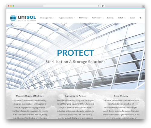 WordPress template Avada - unisol.co.uk