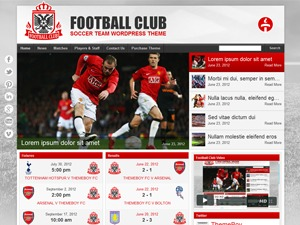 WordPress theme Football Club