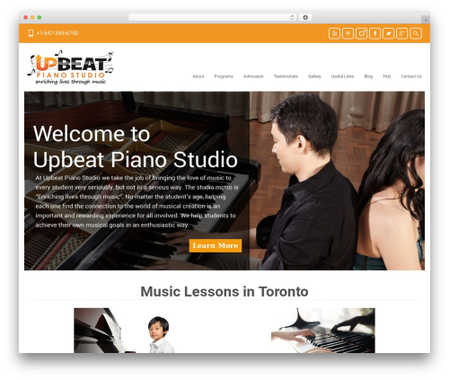 Free WordPress TablePress plugin - upbeatpianostudio.com