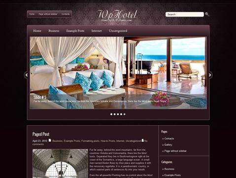 WpHotel best hotel WordPress theme