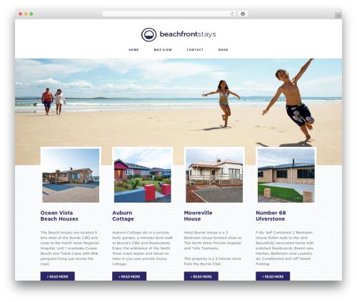 Avada WordPress theme - beachfrontstays.com.au