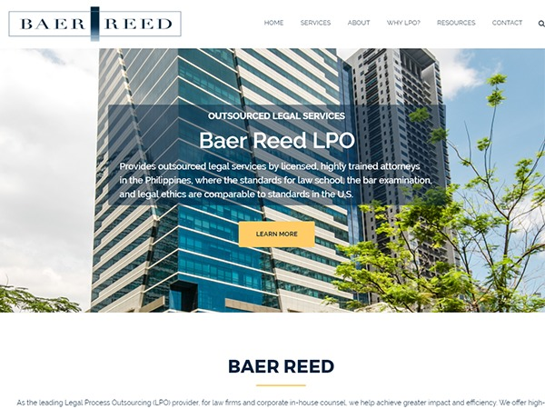 Baer Reed LPO theme WordPress