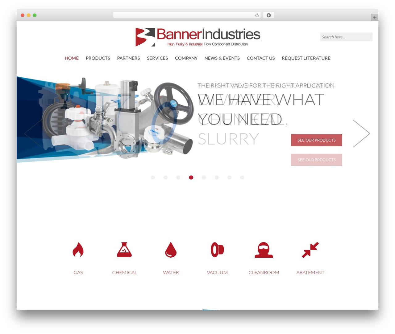 Banner Industries WordPress website template - bannerindustries.com