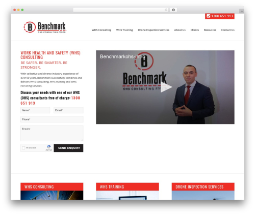 Benchmark WordPress template for business - benchmarkohs.com.au