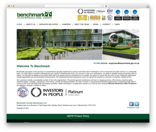 Benchmark WordPress theme - benchmark-gm.co.uk