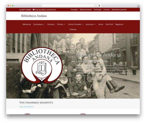 Best WordPress template Andenne Child - bibliotheca-andana.be
