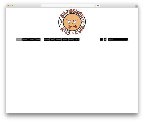 Best WordPress template Grid Theme Responsive - bilingualkidsclub.com
