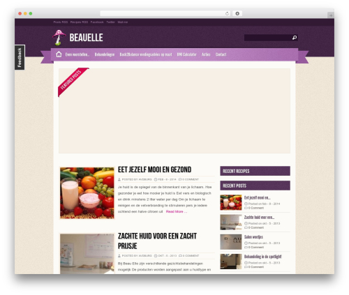 Best WordPress theme Zylyz - beauelle.nl