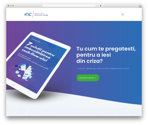Betheme business WordPress theme - blog.firmadeconta.ro