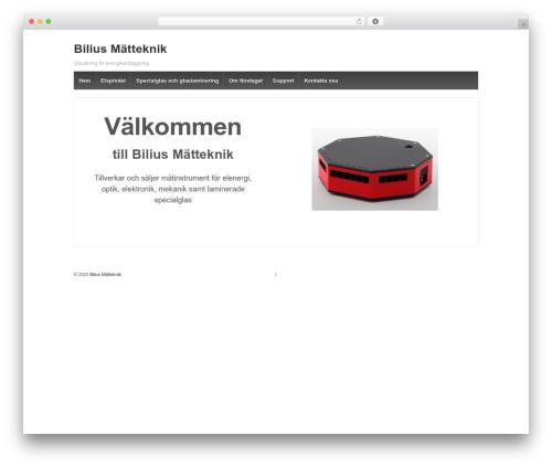 Responsive free WordPress theme - bilius.se