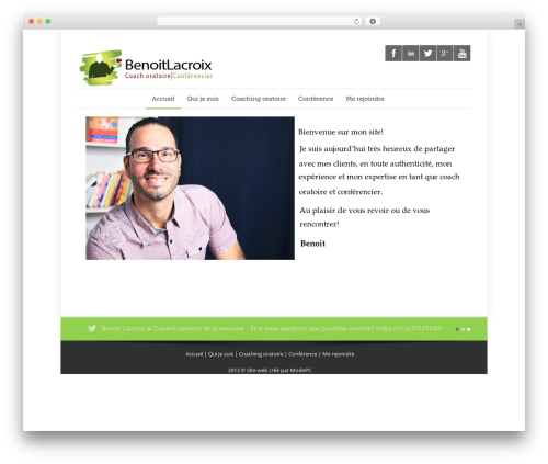 Template WordPress Quare - benoitlacroix.ca