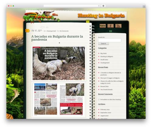 WordPress theme Diary/Notebook - blog.faviaviaggi.com