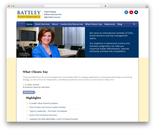 WP template 3clicks Theme - battleyinc.com