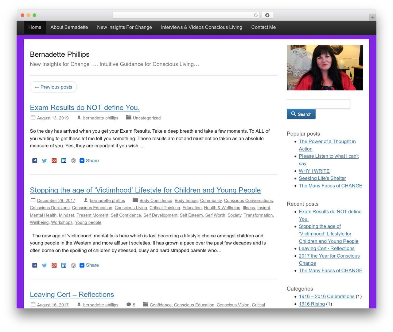 Activetab WordPress template free - bernadettephillips.com
