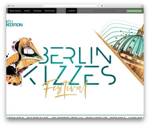 Arcade Basic free WordPress theme - berlin-kizzes.de