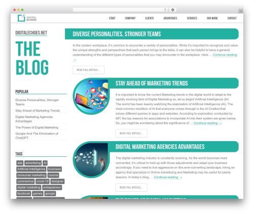 Free WordPress 3D Tag Cloud plugin - blog.digitalechoes.net