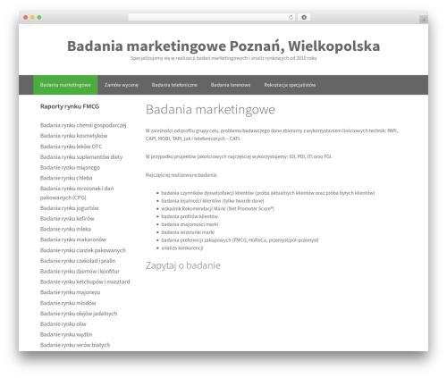 GeneratePress template WordPress free - badaniamarketingowe.org