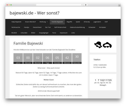 GeneratePress template WordPress free - bajewski.de