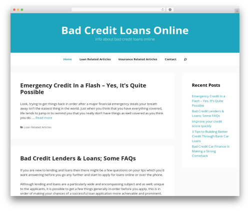 GeneratePress theme WordPress - badcreditloansonline.co.uk
