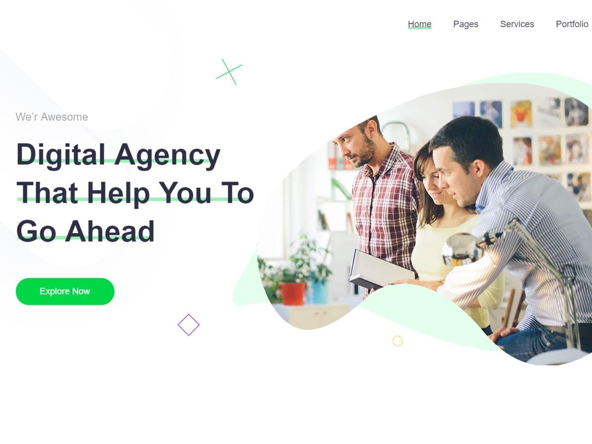 Gullu company WordPress theme