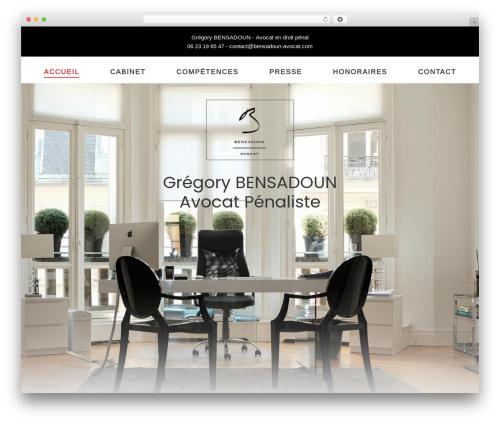 Kustrix WordPress theme design - bensadoun-avocat.com
