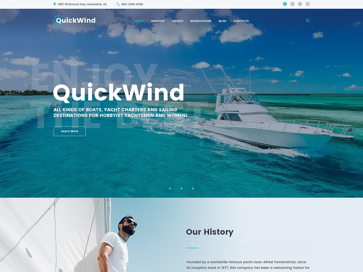 QuickWind WordPress website template