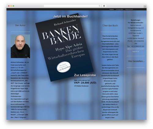 Salient theme WordPress - bankenbande.com