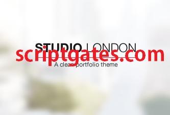 Studio London (Shared on scriptgates.com) personal blog WordPress theme