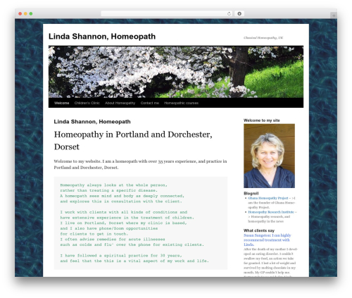 Twenty Ten free WordPress theme - homeopathytreatment.co.uk