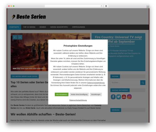 Best WordPress template Merlin - beste-serien.de