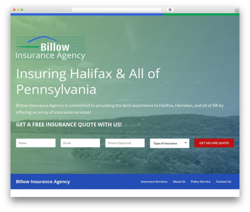 BrightFire Stellar template WordPress - billowinsurance.com