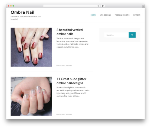 Cell best WordPress template - ombrenail.com
