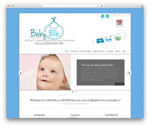 Chameleon WordPress theme - babybib.net