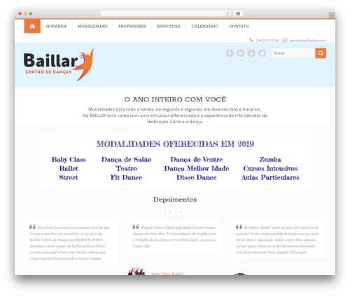 Circle theme WordPress theme - baillar.com/web