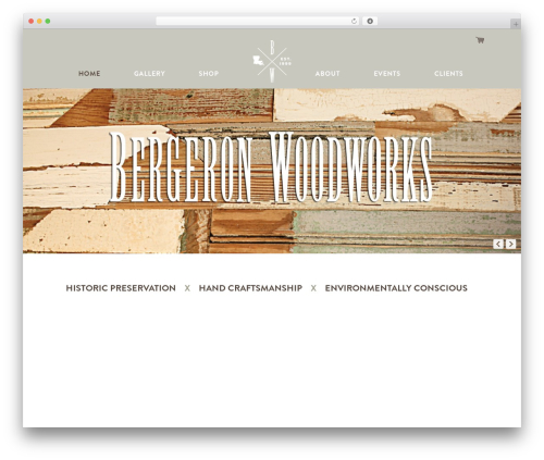 Master Theme photography WordPress theme - bergeronwoodworks.net
