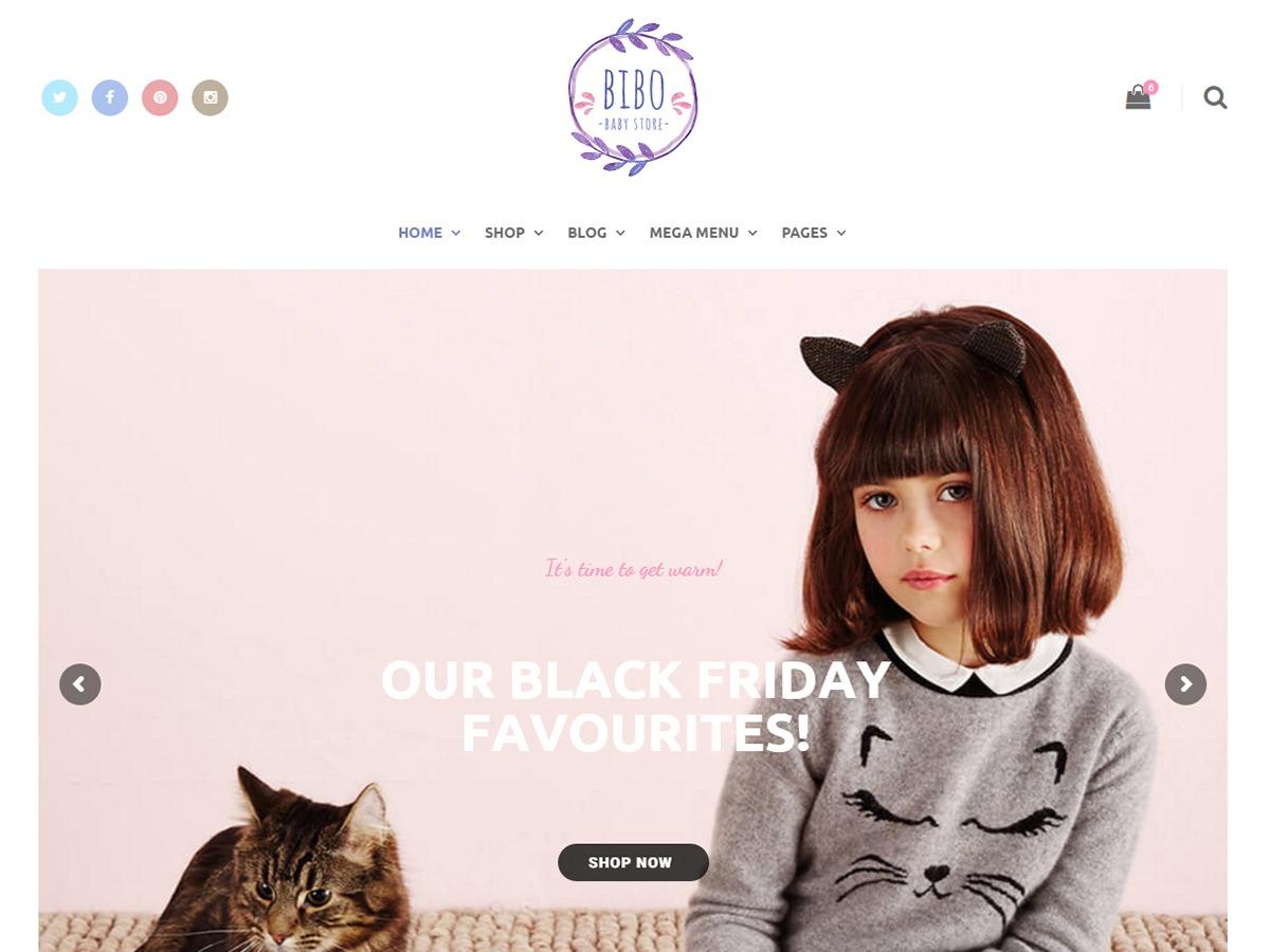 Milo Bibo WordPress ecommerce theme