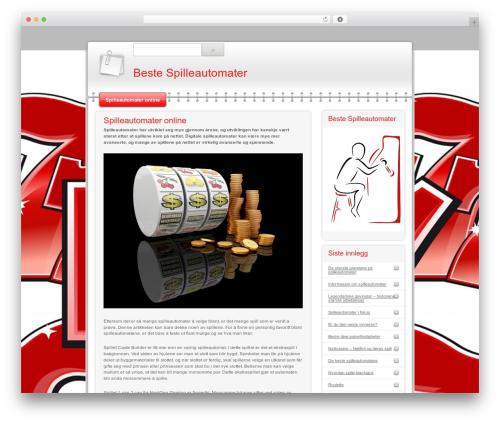 Modern Notepad WP template - beste-spilleautomater.com