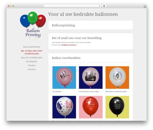 Solo WordPress template - balloonprinting.nl