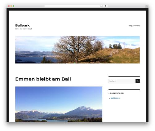 Twenty Sixteen WordPress template - ballpark.ch