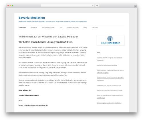 Twenty Twelve theme free download - bavaria-mediation.de
