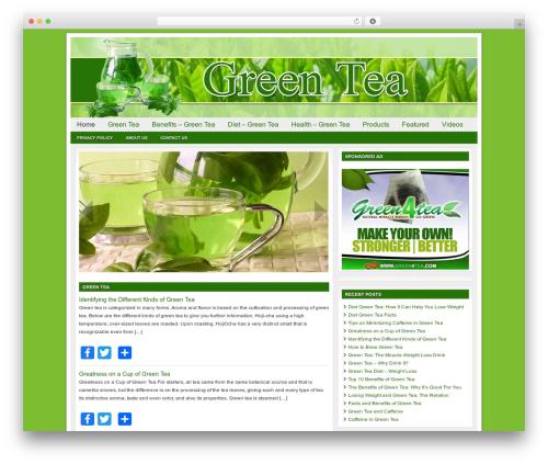 WordPress theme Genesis - benefits-greentea.com