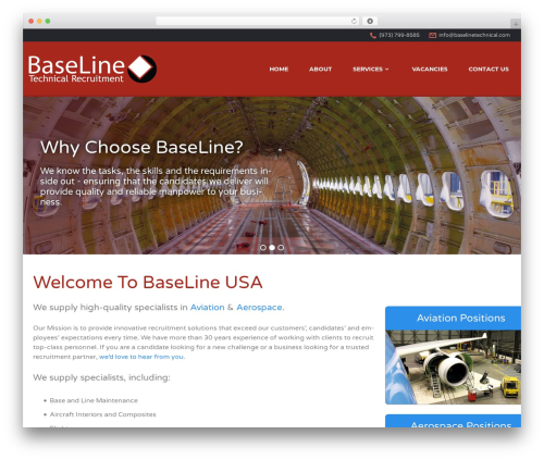 WP theme Jobify - baselinetechnicalusa.com