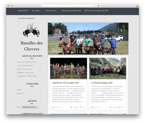Best WordPress template Nomad - bataillesdeschevres.it