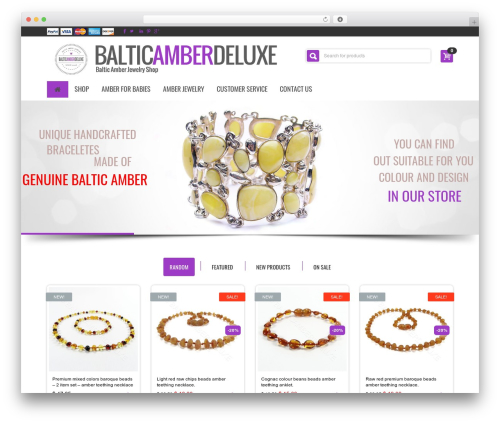 BuyShop WordPress theme - balticamberdeluxe.com