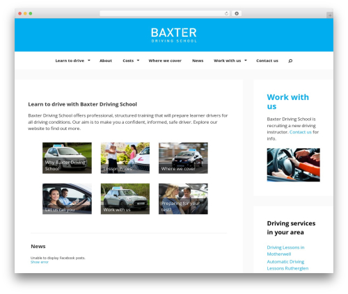 GeneratePress WordPress theme - baxterdrivingschool.co.uk