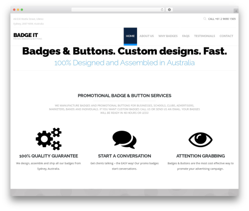 Hercules WordPress theme - badgeit.com.au