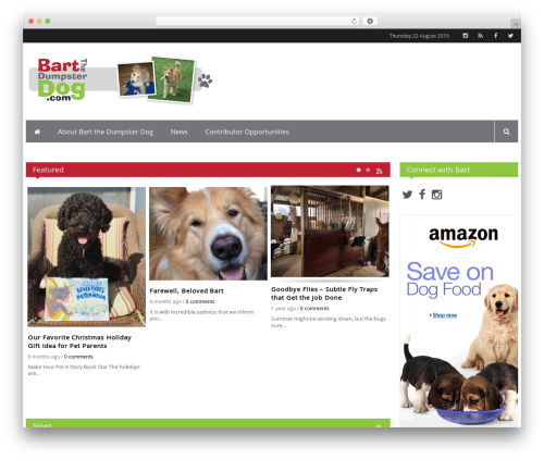 iPress WordPress theme - bartthedumpsterdog.com