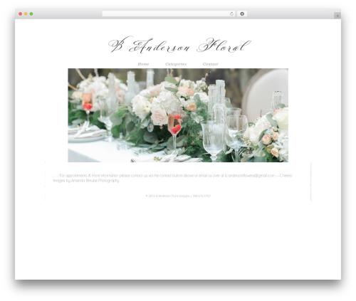 ProPhoto best wedding WordPress theme - bandersonfloral.com