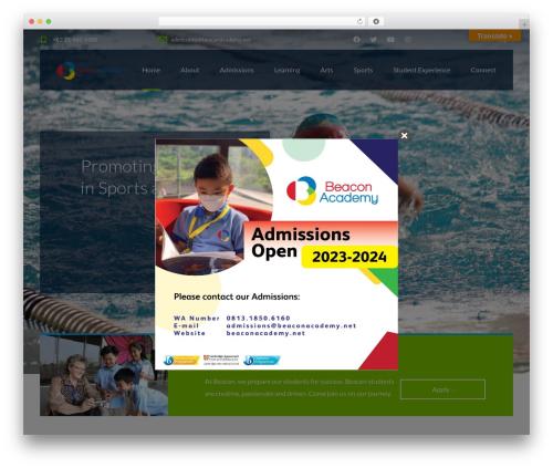 Smarty top WordPress theme - beaconacademy.net