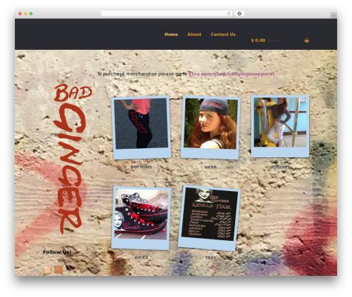 Storefront best free WordPress theme - badginger.com